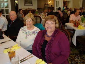 Bev Kent, center, was photographed on Easter Sunday, 2012. Her oldest daughter, Becky Kent Woolman, is at right and her husband, Dr. Homer A. Kent, Jr., is at left.