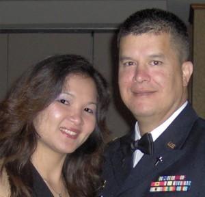 Chaplain John Arnoldbik and his wife, Jensen