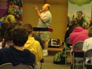 In Pennsylvania, Ed Lewis teaches the Operation Barnabas students about world views at Outreach Session 2.