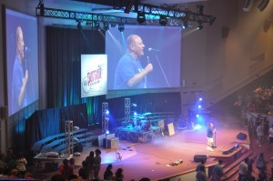 Ed Lewis, executive director of CE National, leads off the last session at Momentum 2010.