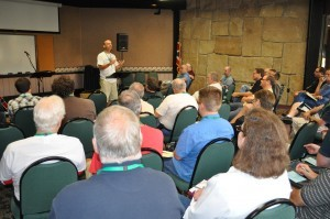 Dan Allen, pastor of the Grace Brethren Church, Ashland, Ohio, lead the retreat on Monday afternoon.