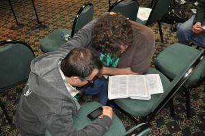 The Focus Retreat concluded as participates prayed for one another.