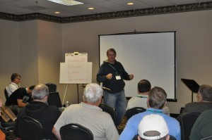 Tony Webb leads a session at the East Focus Retreat, which began yesterday (Monday, October 25) at Ocean City, Md.