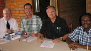 Aquila Project pastors Thornton, Jackson, Ryerson with Dr. Ngoumape.