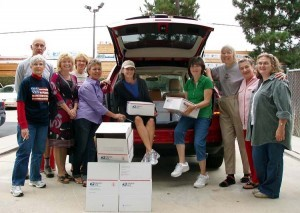 September 2010 packing team, for care packages to the 96th Military Police Battalion, Afghanistan