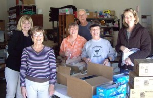 May 2010 packing team, co-coordinator Judy Hull on the left