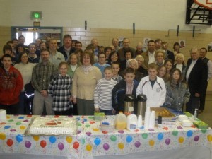 """""""The Bridge,"""" a new Grace Brethren church in Tipp City, Ohio, launched on SuperBowl Sunday with more than 70 present."""