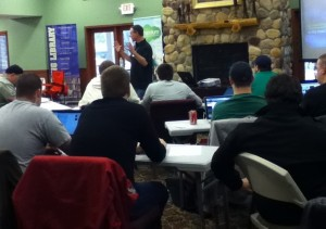 Barry Shafer, author of Unleashing God's Word, shares with youth pastors at the CE Leadership Summit for Youth Workers.