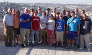 The full group of travelers who joined Ed Lewis and Randy Smith in Israel.