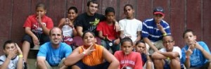 Some of the Urban Hope kids and leaders at Camp Conquest in 2010.