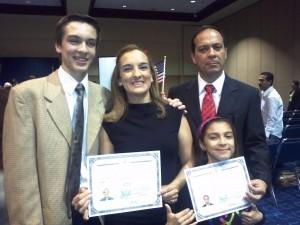 The Forero Family: Mateo, Pilar, Javier, and Abbie