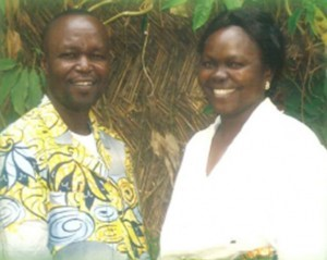 Dr. Augustin Hibaile and his wife, Marie Helene