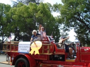 Roy and Andrea Halberg marshaled the Fourth of July parade in their hometown of LaVerne, California today. Roy is pastor of the Alta Loma church.