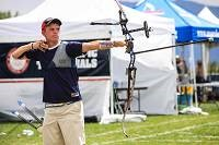 U.S. archer Jacob Wukie was eliminated from Olympic competition July 31 in a match with Norwegian Baard Nesting. File photo
