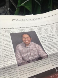 Daron Butler, pastor of cross cultural missions at the Grace Brethren Church in Wooster, Ohio (Bob Fetterhoff, pastor), is speaking this week at the Moody Bible Institute Missions Conference