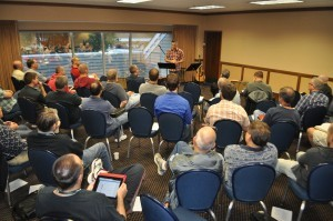 Ronnie Martin leads this mornings session on Confession during the annual Central Focus Retreat for ministry leaders