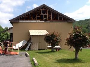 Renovation work begins on Community Grace Brethren Church in Everett, Pa.