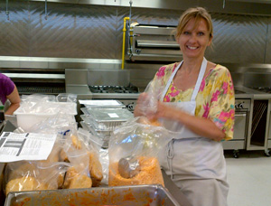 """The Big Cook"" yielded 35 meals for a needy family, while allowing participants to take home a few for their own use."