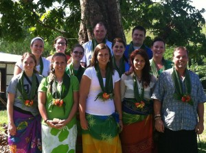 Grace College students in Fiji