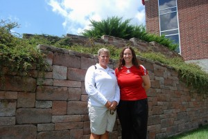 Head Softball Coach Heather Johnson (left) and Head Volleyball Coach Andria Harshman (right)