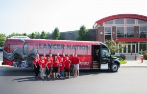 Grace College has acquired two new buses for its athletic teams to travel in. One of the buses is shown above.