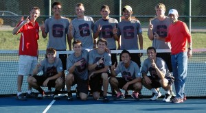 2013 Grace College Men's Tennis team has earned it's second straight Crossroads League title.