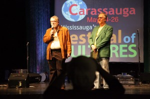 Brazilian Consul to Canada Afonso Cardoso and Armando Padovan at the opening evening of Carrasauga.