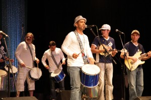Batucada Carioca Group led by Maninho Costa. Batucada means music and rhythm of Afro-Brazilian dances.