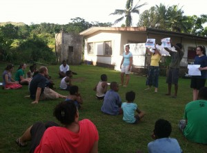 In Fiji, the students share the Good News of Jesus Christ.