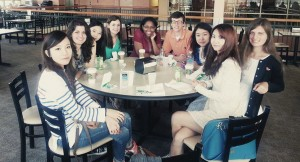 The Fall 2013 Korean exchange students at Grace College enjoyed their first breakfast of the school year at Starbucks.