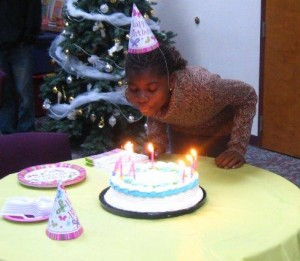 Melissa Ngoumape turned 12 today with a celebration at the Winona Lake, Ind., Grace Brethren Church.