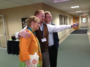 "Dr. Tammy Schultz, who has served on the Grace College and Graduate School faculty for 19 years, says farewell to colleagues with a ""selfie."""