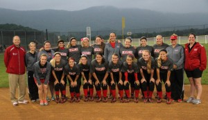 The Grace College Lady Lancers on the field Thursday morning.