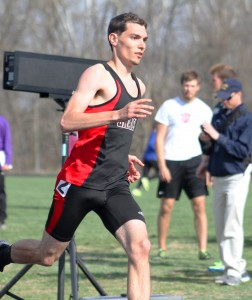 Lance Taylor breaks Grace College record in 400-meter.