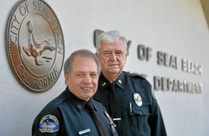 Seal Beach, Calif., Police Chaplains Donald Shoemaker and George Vogel.