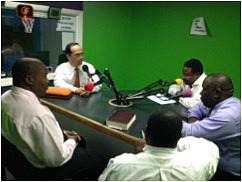 Pastor Javier Forero was interviewed on Nassau radio about the leadership training workshop he was leading with several others in the Bahamas.