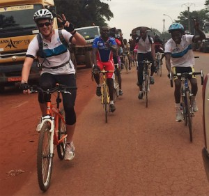 David DeArmey rides in the Central African Republic.