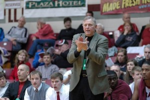 Grace College men's basketball coach Jim Kessler will look for win No. 700 in the season opener at home Friday night (Photo provided by the Grace College Sports Information Department)