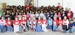 Children and staff during one of the weeks of Michigan Migrant Ministries' summer day camps.