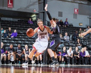 Grace College senior Allison Kauffman ranks second in program history in both points and rebounds (Photos provided by the Grace College Sports Information Department)