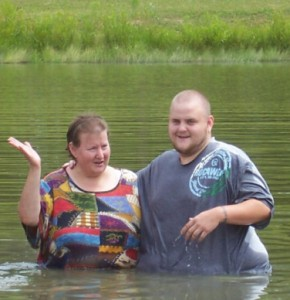 Becky Shank (1958-2015) was baptized by her son, Andy.