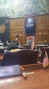 Dr. Bill Katip speakers to the Judiciary Committee of the Indiana House of Representatives.