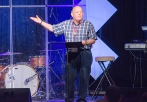 Ed Lewis challenges conference attenders to take risks for Jesus. #myflinchrisk