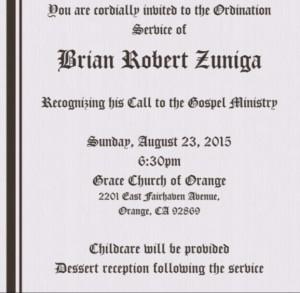 Zuniga ordination