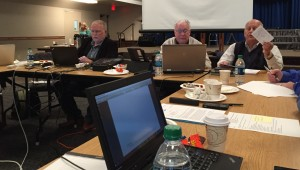 Ed Lewis, executive director of CE National, presents his report to the Fellowship Council.