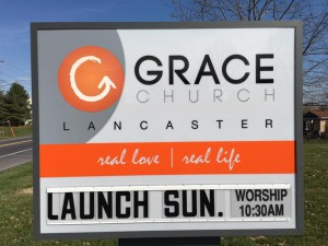 GraceChurch Launch sign