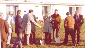 Brethren Christian School broke ground for their new building in 1980. That building is now being razed for a new facility at the Grace Brethren Church, Osceola.