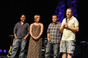 Jeff Bogue, Peter Yoo and Juan Carlos and EmilyTéllez