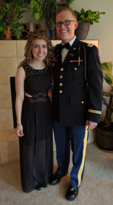 Sean and Teresa Dennerlein. Sean is on active duty in the infantry and has been has just been accessioned into the chaplaincy candidate program.